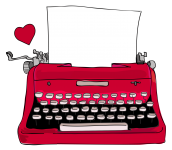Red typewriter BL